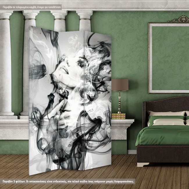 Room divider Abstractfemale face