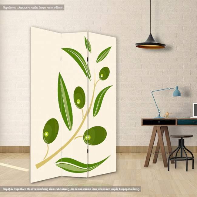 Room divider Olive branch