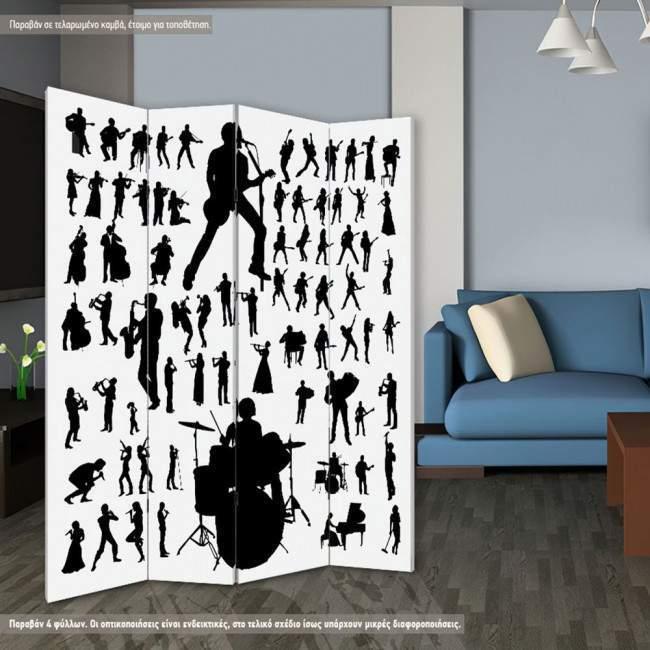 Παραβάν Music vector silhouettes