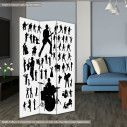 Room divider Music vector silhouettes