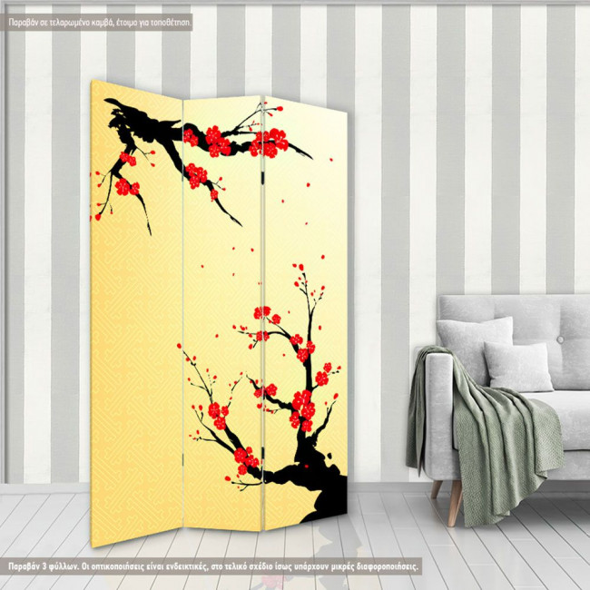 Room divider Chinese blossom
