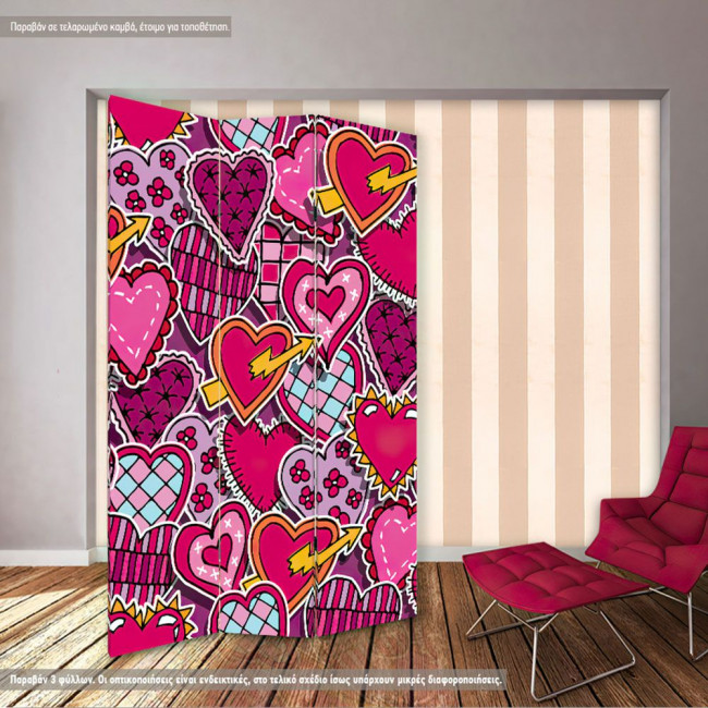 Room divider Love pattern