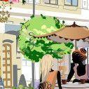 Παραβάν, Street cafe