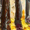 Παραβάν, Autumn forest trees