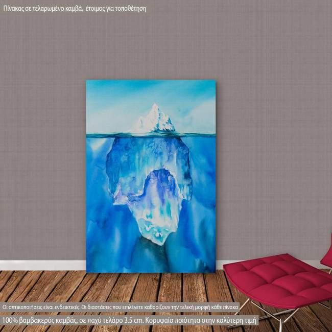 Πίνακας σε καμβά Παγόβουνο στον ωκεανό, Glacier in the ocean
