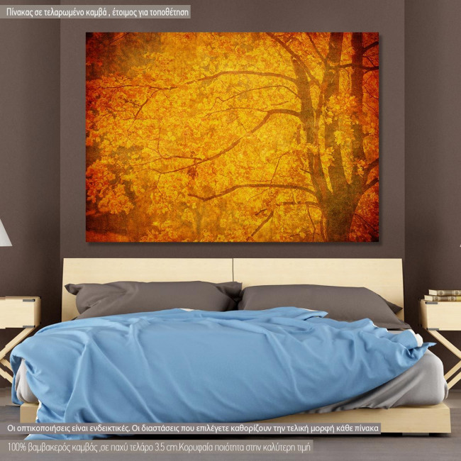 Πίνακας σε καμβά Grunge background with autumn leaves