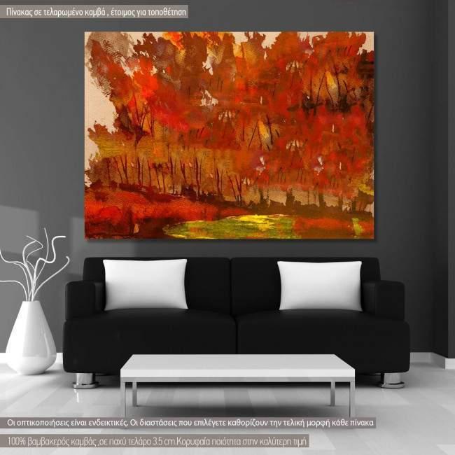Πίνακας σε καμβά Δάσος, The forest