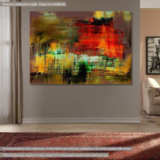 Πίνακας σε καμβά Abstract selection XCV
