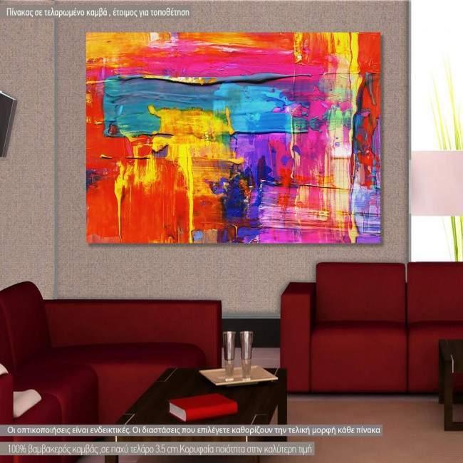 Πίνακας σε καμβά Abstract selection XCVI