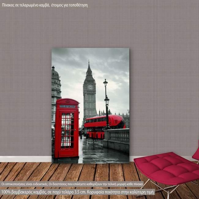 Πίνακας σε καμβά Λονδίνο, London street