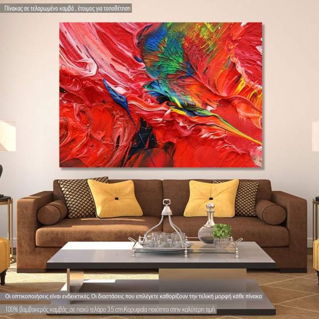 Πίνακας σε καμβά Abstract selection XCVII