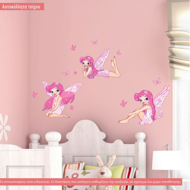 Kids wall stickers Fairies and butterflies