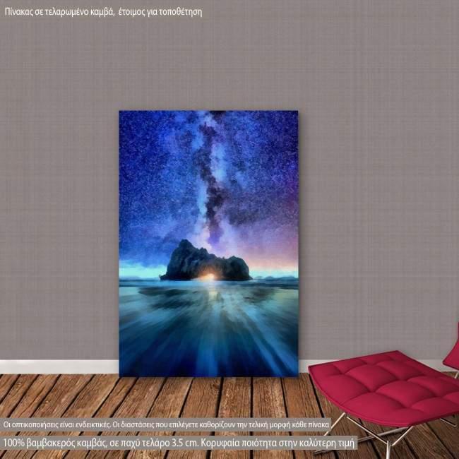 Πίνακας σε καμβά Γαλαξίας, Island in the milky way
