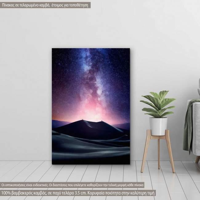 Πίνακας σε καμβά Γαλαξίας, Desert milky way