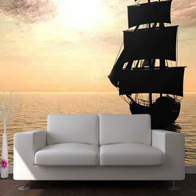 Wallpaper Sailing sunset