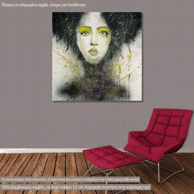 Πίνακας σε καμβά Watercolor girl III