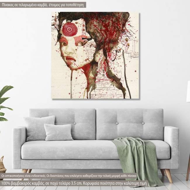 Πίνακας σε καμβά Watercolor girl V
