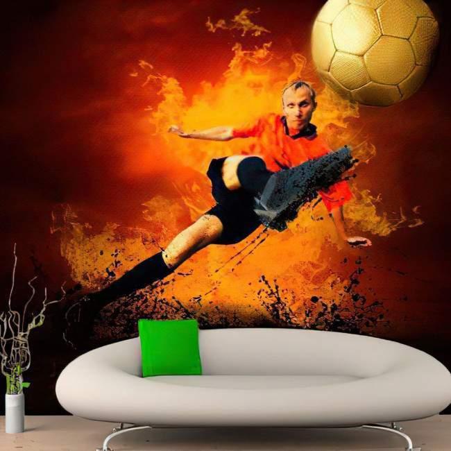 Ταπετσαρία τοίχου Εντυπωσιακός ποδοσφαιριστής