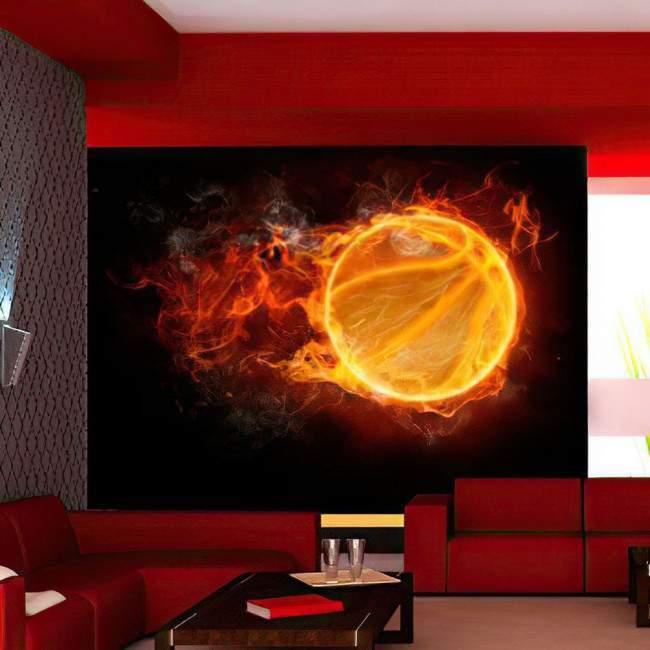 Wallpaper Flaming basketball