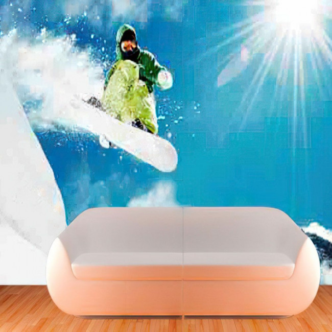 Ταπετσαρία τοίχου Snowboarding