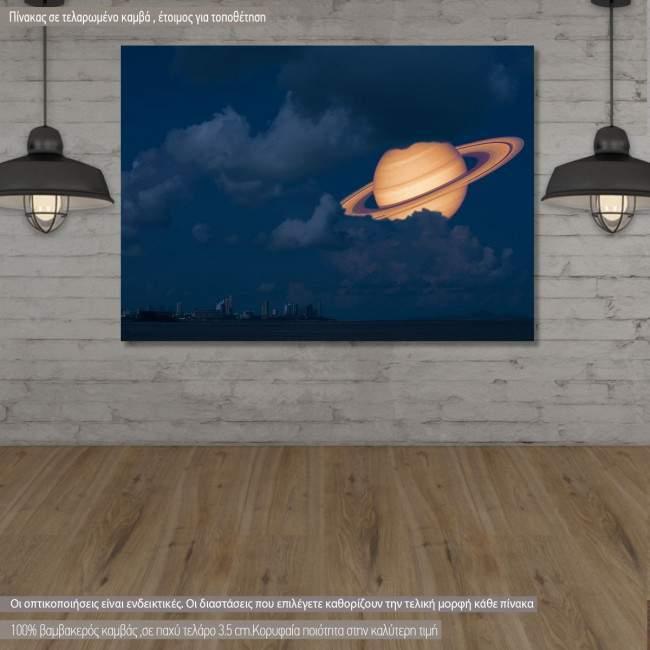 Πίνακας σε καμβά Κρόνος, Saturn near Earth