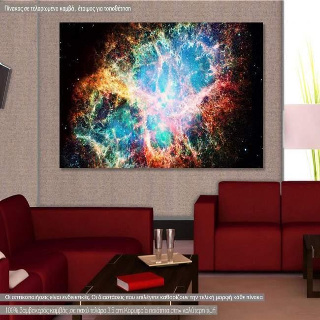 Πίνακας σε καμβά Nebula in space