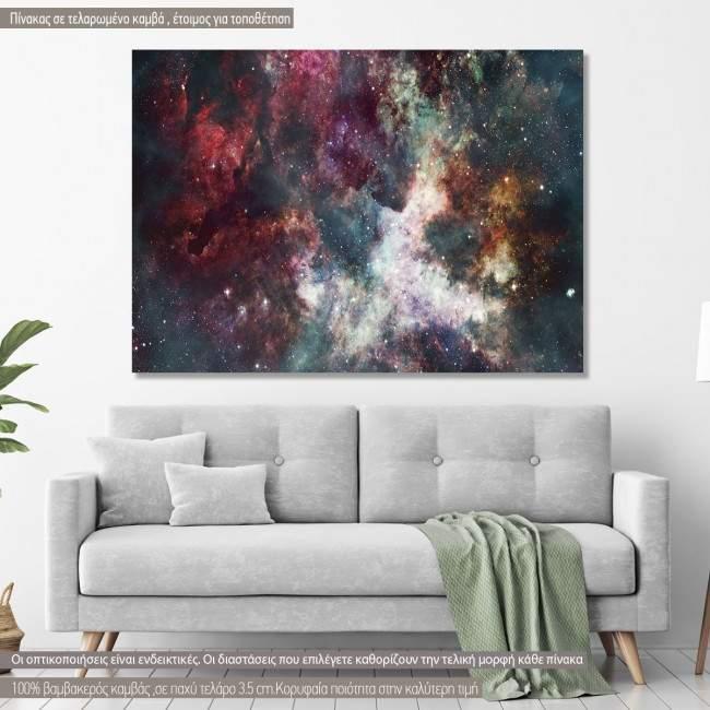 Πίνακας σε καμβά Colorful starry night sky