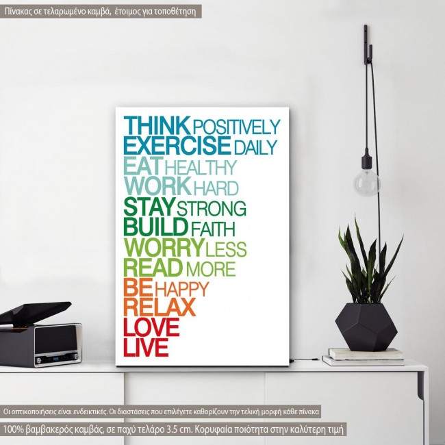 Canvas print Think positively