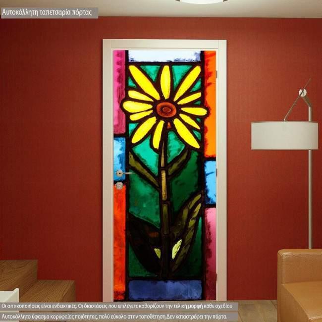 Αυτοκόλλητο πόρτας Βιτρώ vitraux