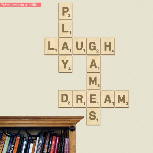 Wooden scrabble Play Laugh Games Dream