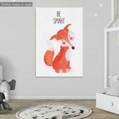 Woodland animals, Αλεπού ζωγραφιστή, παιδικός - βρεφικός πίνακας σε καμβά, 2