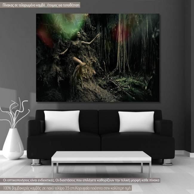Πίνακας σε καμβά Forest fantasies