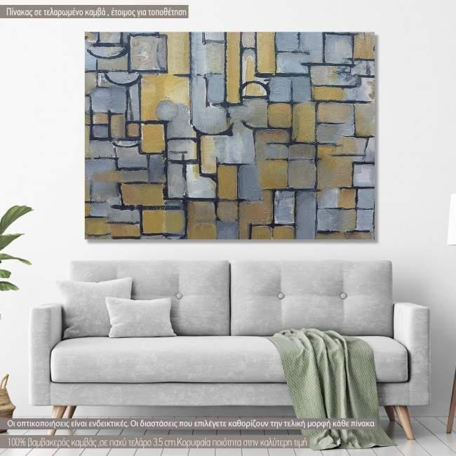 Canvas print Composition, Mondrian P.