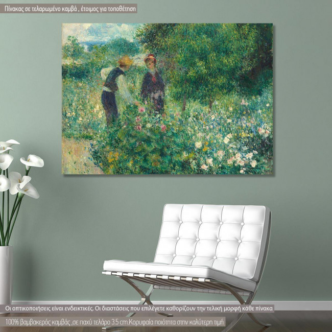 Canvas print Picking flowers, Renoir