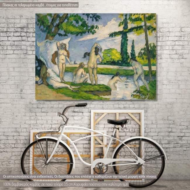Canvas print Bathers, Cezanne P.