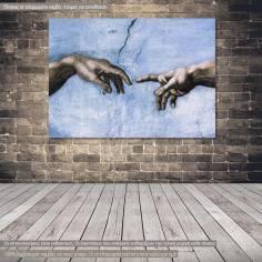 Πίνακας ζωγραφικής The creation of Adam multicolor, αντίγραφο σε καμβά