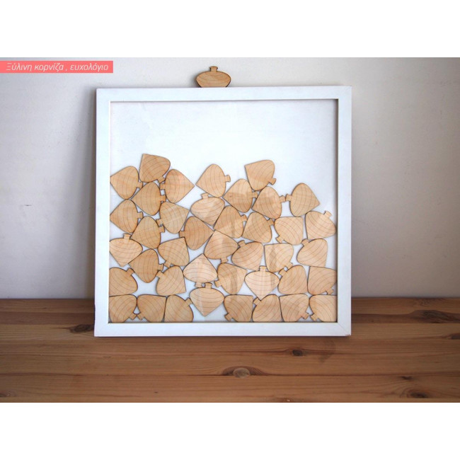 Wooden wishes board with spinners