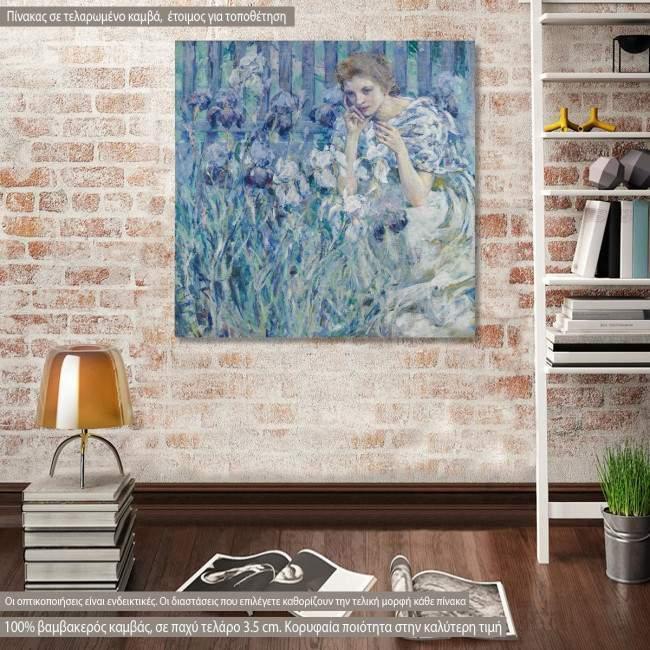 Πίνακας ζωγραφικής Fleur de Lis, Reid R., αντίγραφο σε καμβά