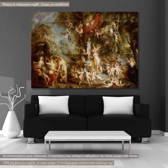 Πίνακας ζωγραφικής The Venus celebration, Rubens P. P., αντίγραφο σε καμβά