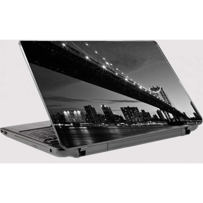 Manhattan bridge Laptop skin