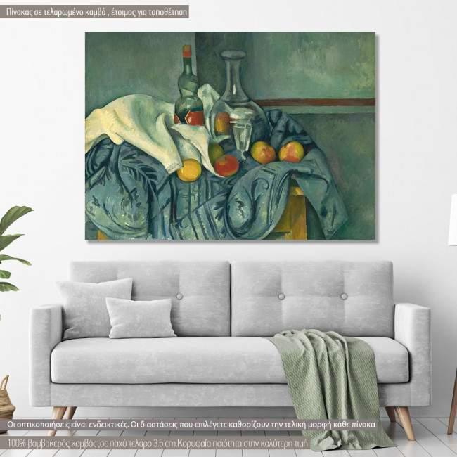 Πίνακας ζωγραφικής The peppermint bottle, Cezanne P., αντίγραφο σε καμβά