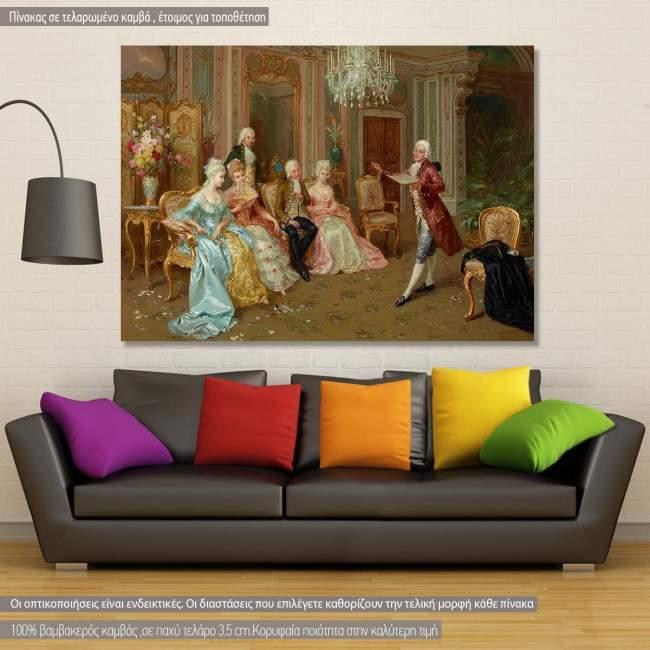 Πίνακας ζωγραφικής The recital, Luzzi C, αντίγραφο σε καμβά