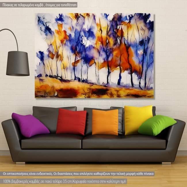Πίνακας σε καμβά Autumn clump