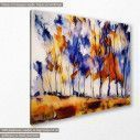Canvas print Autumn clump, side