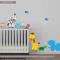 Kids wall stickers Jungle time, aditional animals