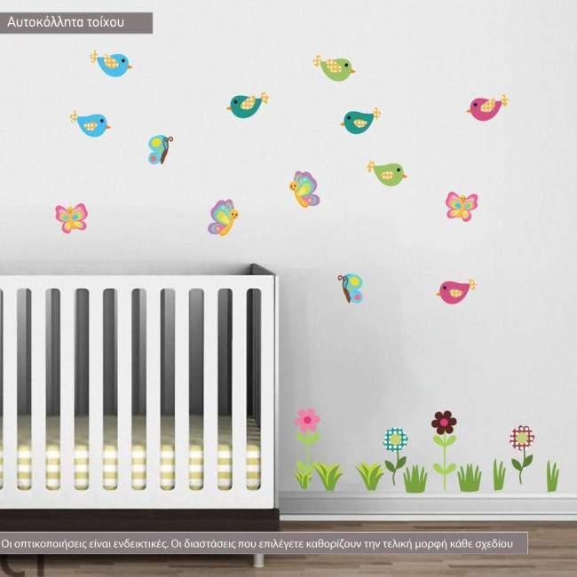 Αυτοκόλλητα τοίχου παιδικά Cute Africa, επιπλέον σχέδια