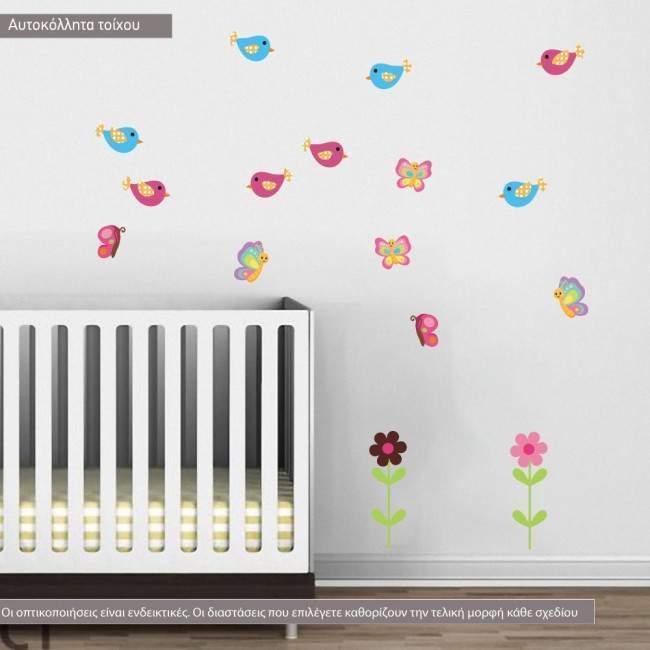 Αυτοκόλλητα τοίχου παιδικά Cute Pink Africa, επιπλέον σχέδια