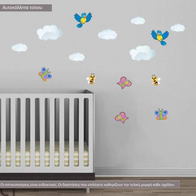 Αυτοκόλλητα τοίχου παιδικά Στην σκιά του δέντρου, επιπλέον σχέδια