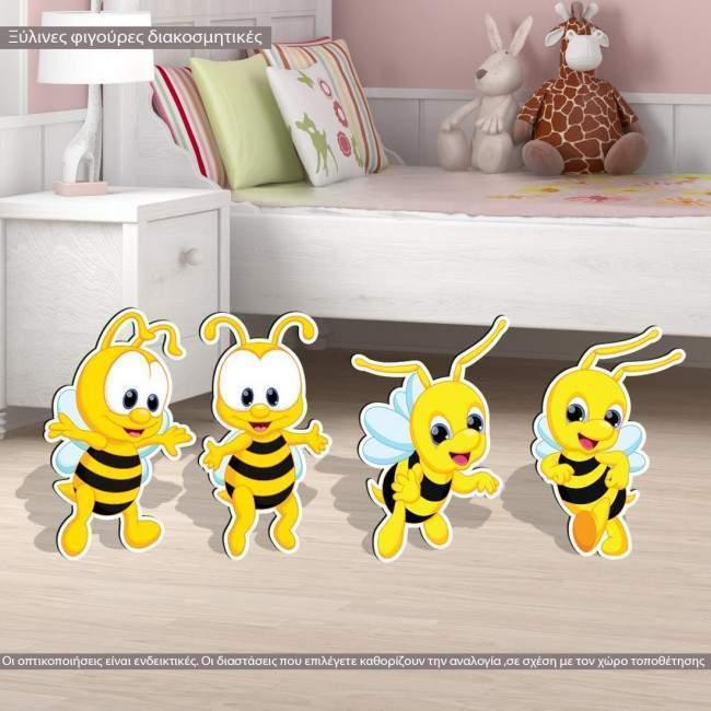 Wooden figures Bees