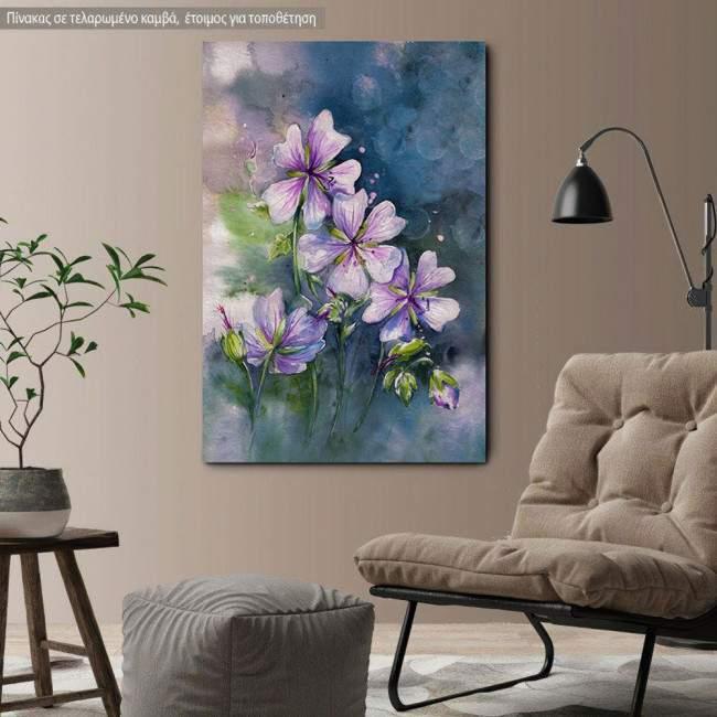 Canvas print, Pink geranium